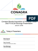 CAG PF Conagra Brands Acquisition of Pinnacle Foods 2018