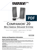 344839 Og Companion 20 Multimedia Speaker System En