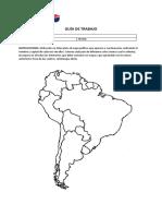 Guia de Trabajo Mapa PolItico de AmErica Del Sur