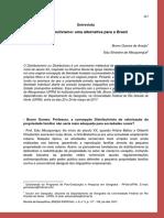 Entrevista sobre o Distributismo no Brasil.