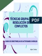 Tc3a9cnicas Grupales Resolucic3b3n de Conflictos