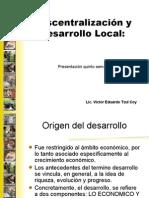 Descentralización y Desarrollo Local