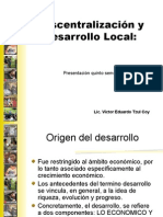 Descentralización y Desarrollo Local