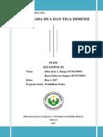 Makalah Mekanika Tentang Gerak Pada Dua dan Tiga Dimensi (Kelompok III Hana Daforosa dan Dina Sinaga).docx