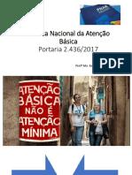 Nova Política Nacional Da Atenção Básica 2017 PDF