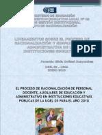 LINEAMIENTOS DE RACIONALIZACIÓN 2010