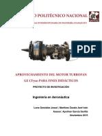Aprovechamiento Del Motor Turbofan GE CF700 Para Fines Didacticos