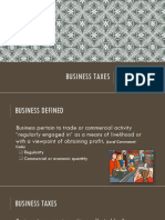 Business Taxes 2015