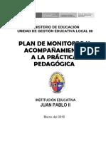 Plan de Monitoreo y Acompañamiento 2018