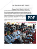 Human Resources Development and Capacity Building