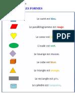 FLE - Les Formes