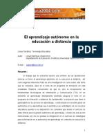 Lileya Manrique Villavicencio-El aprendizaje autónomo en la educación a distancia