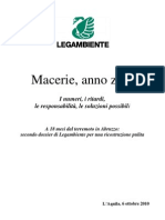 LEGAMBIENTE. Dossier Macerie 6 Ott