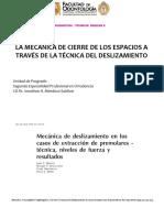 Mecánica de deslizamiento en casos de extracción de PM