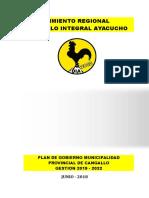 Plan de Gobierno Cangallo - 2018