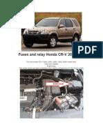 Fuses and Relay Honda CRV 2002-2006