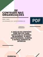 Aula 2 - Analise de Conteudo Nas Organizacoes