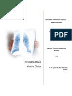 Historia Clinicia Neumologia