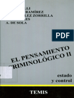El Pensamiento Criminologico - Tomo II