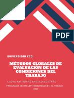 Métodos globales para la evaluación de las condiciones del trabajo