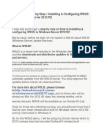 Build WSUS Windows Server 2012