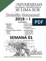 BOLETIN SEMANAL CEPREUNTELS 2018