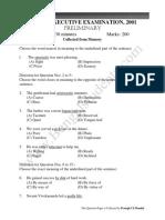 WBCS Prelims 2000 (Eng Ver) Question Paper