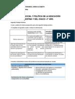 GUIA DEL SEGUNDO TRABAJO -HISTORIA, SOCIAL Y POLITICA DE LA EDUCACION ARGENTINA Y CHAQUEÑA..docx
