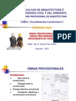 Obras Provisionales, Preliminares, Mov. Tierras