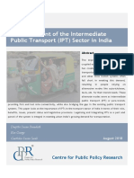 An Assessment of the Intermediate Public Transport IPT Sector in India