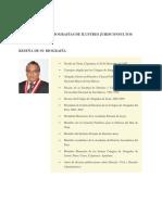 Biografías y Bibliografías de Ilustres Jurisconsultos