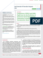 Comparison of MELD and Child- Pugh Score for the Prediction of Survival in Portal Hypertension Undergoing Transjugular Intrahepatic Portosystemic Shunt