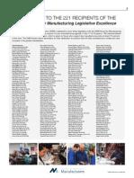 NAM Award for Manufacturing Legislative Excellence. (Print Advertisement