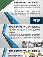 Diapositiva de maquinarias para carreteras