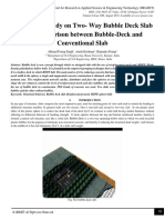 A Tentative Study on Two- Way Bubble Deck Slab and Comparison between Bubble-Deck and Conventional Slab