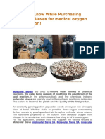Things to Know While Purchasing Molecular Sieves for Medical Oxygen Concentrator