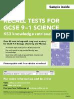 Science KS3 Sample Test