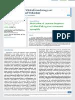 Modulation of Immune Response in Edible Fish against Aeromonas hydrophila