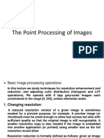 The Point Processing of Images