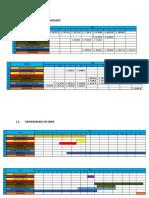 Cronograma de Obra y Mano de Obra