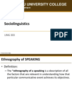 LING303 Ethnography