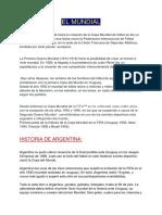 El Mundial (Trabajo Libre) Alvarez, Arias, Arriagada, Baldracco 2do_B