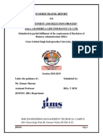 recuritment and selection process at dhfl - bba report