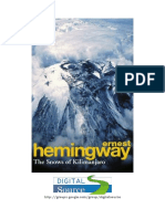 As Neves de Kilimanjaro - Ernest Hemingway.pdf