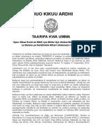 Press Release Kiswahili