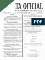 Gaceta Oficial N° 41.476