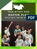 Mythic Master Plan 2018-19