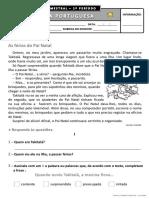 3º ano - Português - 1º Período