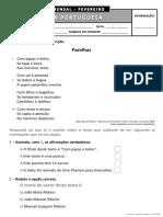 3º ano - Português - Fevereiro
