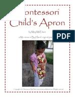 Montessori Childs Apron